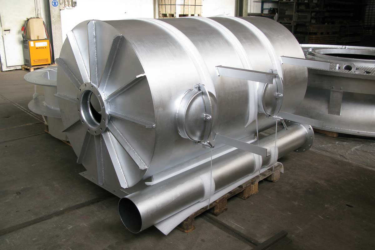 Brennergehäuse für Ofendeckel - mit temperaturbeständiger Oberflächenbeschichtung